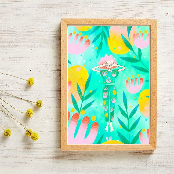 A4 Floral Poster - Disappearing
