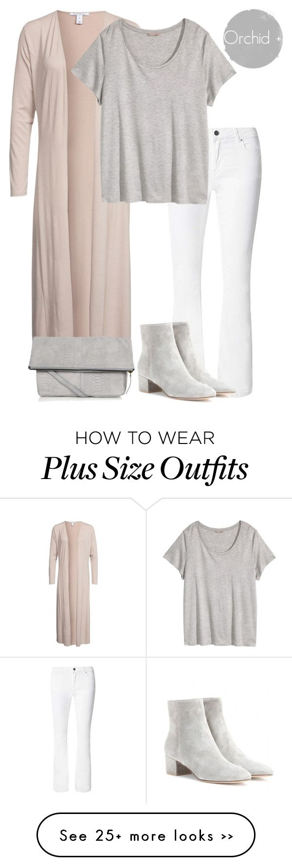 """""""Everyday Gray Plus Size"""" by orchidplus on Polyvore"""