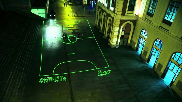 Wasn't quite sure where to put this Pin via @Matty Chuah Pop-Up City - Nike Launches On-Demand Laser Beam Street Football Pitch. Can you imagine what other pop up installations could happen like this? Chess boards, Snakes and ladders etc #IAP2