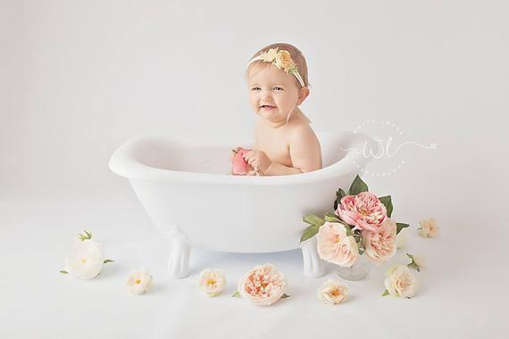 Gatsby Clawfoot Bath Tub Vintage Style Cake Smash Birthday Photography Prop Buy Direct Save Baby Bath Time Baby Milk Bath Baby Bath Tub
