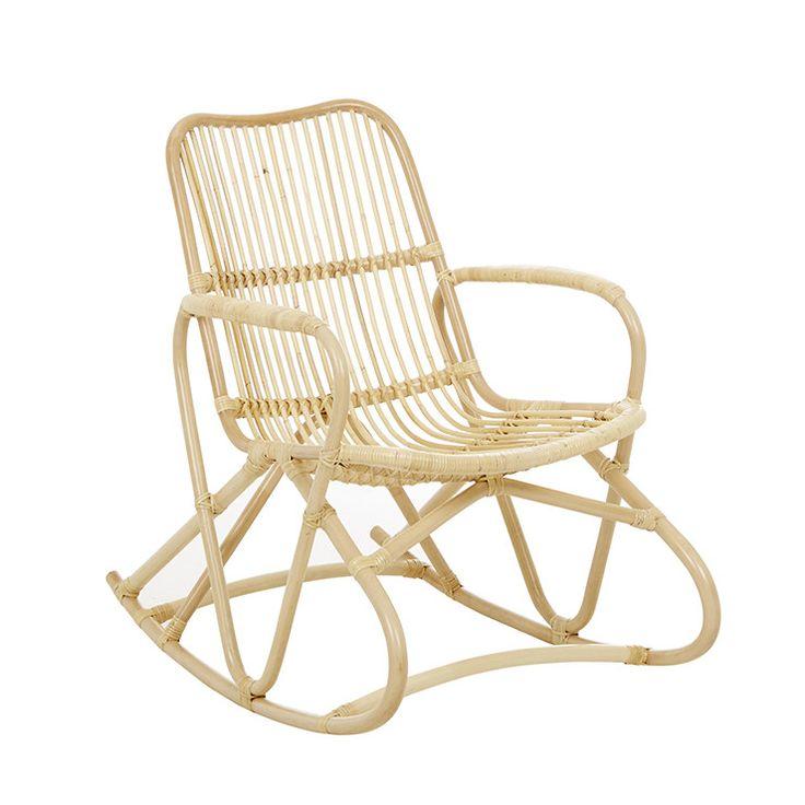 GlobeWest - Tango Loop Rocking Chair natural rattan