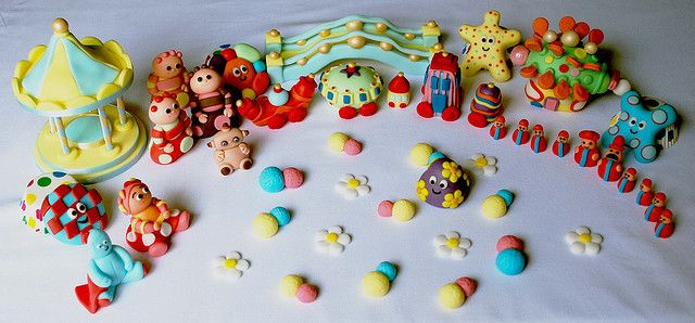 In the night garden cake toppers