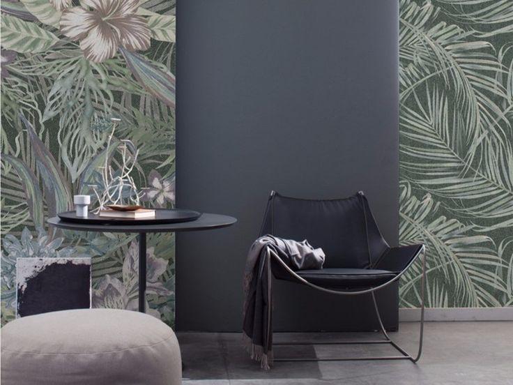 Carta da parati panoramica in fibra di vetro in stile moderno con motivi floreali TENNO Collezione Undressing Surfaces by Inkiostro Bianco design Ink Lab