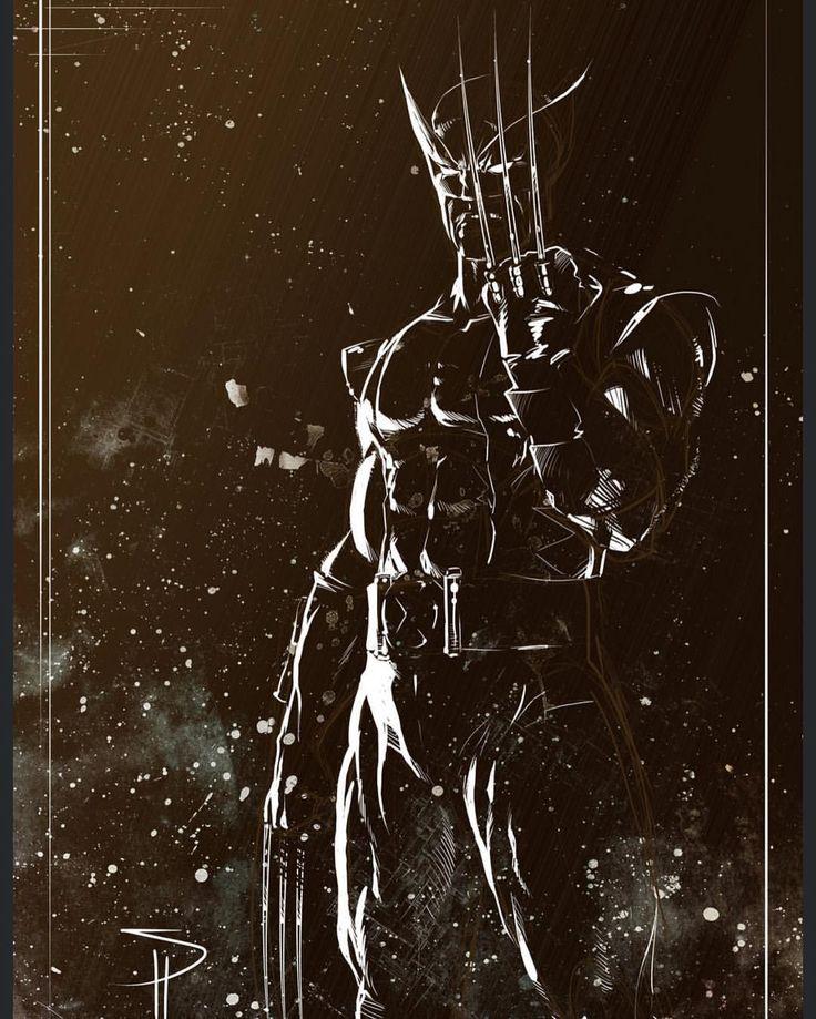 Wolverine Black - White art