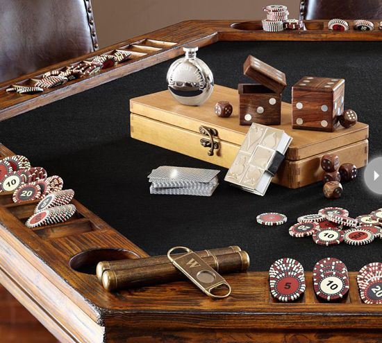 459 best images about cigars on pinterest jack nicholson for Pottery barn poker table