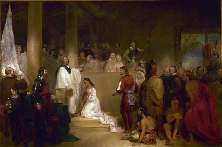 Pocahontas & John Rolfe: In April 1614, she married tobacco painter John Rolfe, and in January 1615, bore him a son, Thomas Rolfe.  Pocahontas's marriage to John Rolfe in 1614 was the first recorded interracial marriage in American History.