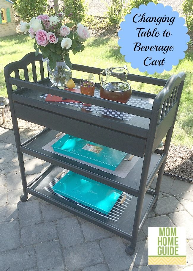 It seems pretty obvious once you look at it from a new perspective. A changing table makes an amazing beverage cart! Once you remove the changing pad, you've got yourself a compact unit with 3 shelves which is perfect for a service station for drinks or food. Check out how pretty this one is. This …