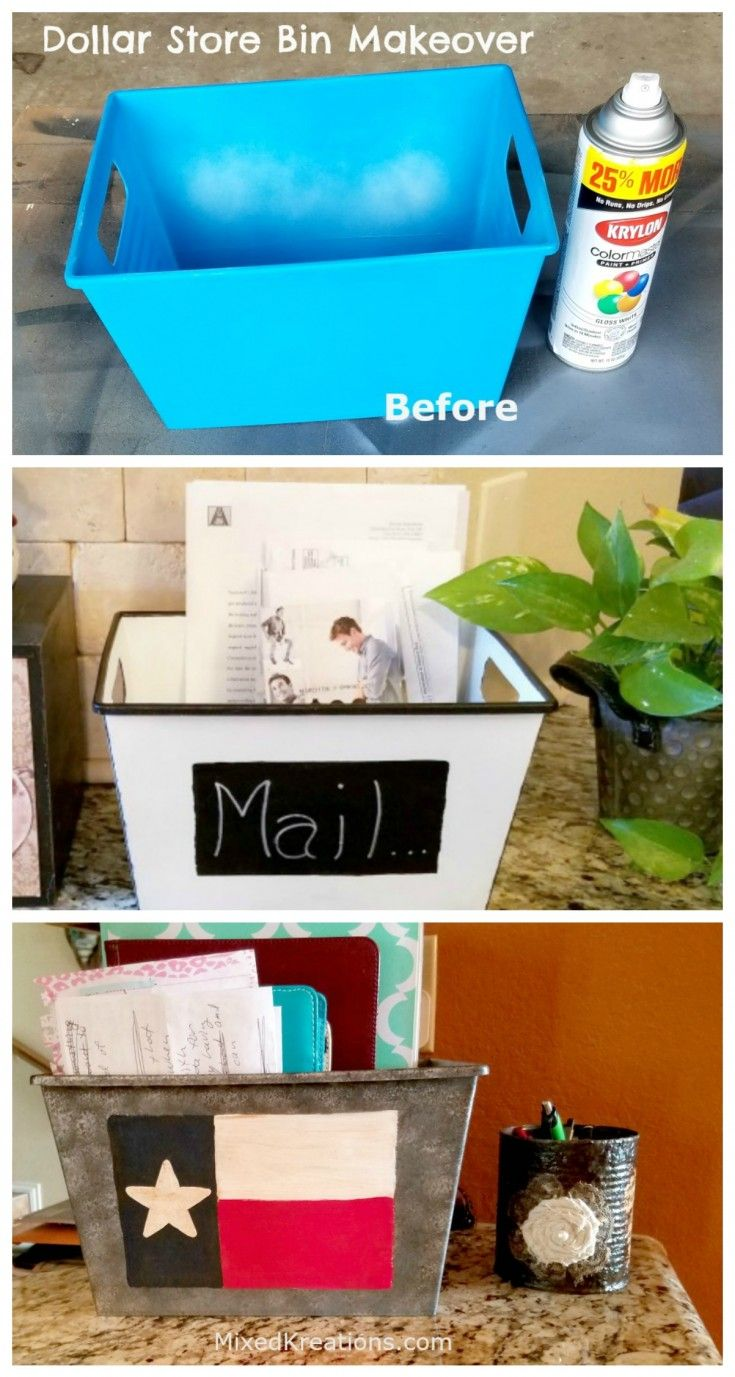 Dollar Store Container Makeover – 2 Inexpensive Ways to Declutter