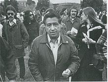 Cesar Chavez (1927 –1993) was an American farm worker, labor leader and civil rights activist who co-founded the National Farm Workers Association (later the United Farm Workers union). His public-relations approach to unionism and aggressive but nonviolent tactics made the farm workers' struggle a moral cause with nationwide support.