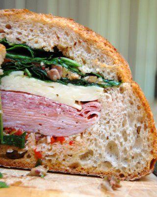 Muffaletta Sandwich. alternate here: http://andreayaya.typepad.com ...