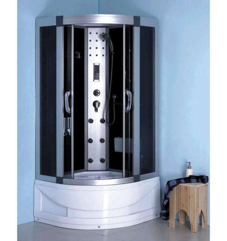combin baignoire douche pigadia 90 90 211 cm hydromassage. Black Bedroom Furniture Sets. Home Design Ideas