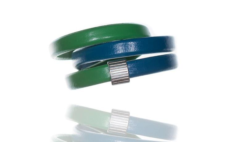 blue-green natural leather