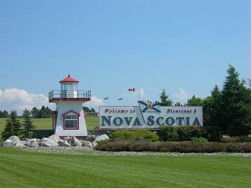 Welcome to Nova Scotia sign.
