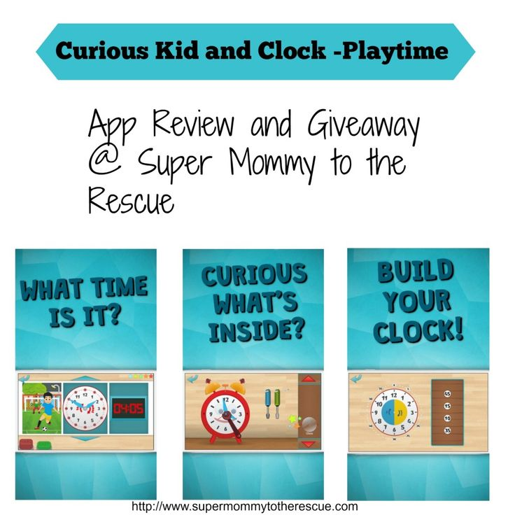 Curious Kid and Clock App Review, EdApps, Homeschool