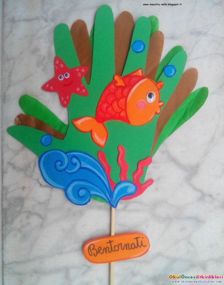 kağıttan ellerimize çiçek yapalım