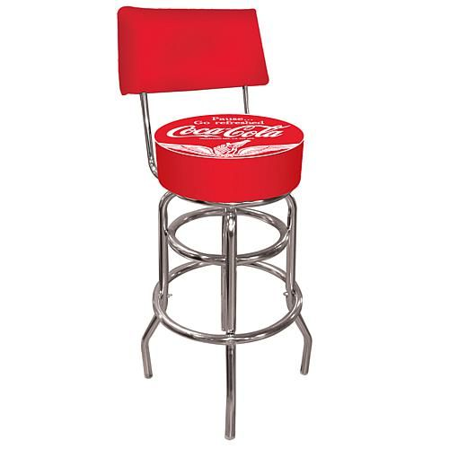 Coca-Cola Wings Pub Stool with Back