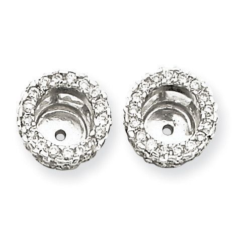 14K White Gold Diamond Earring Jacket XJ73A