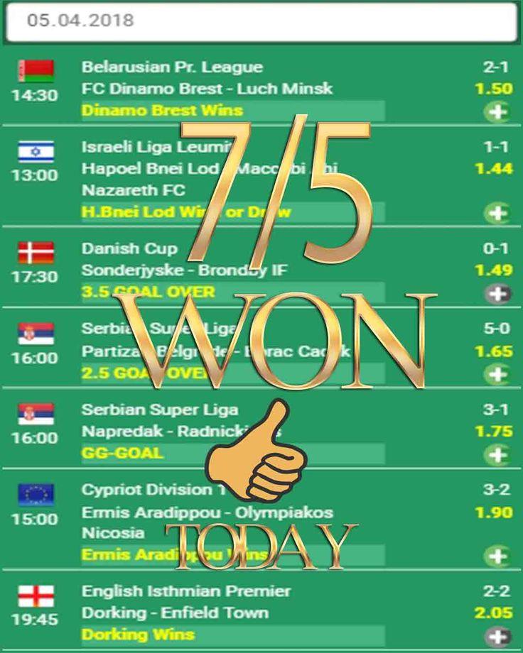 7/5 WON Vip betting odds, Bets analysis, Betsson