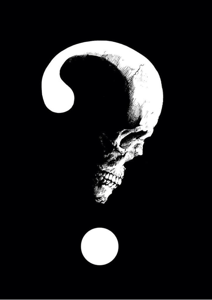 Skull question mark
