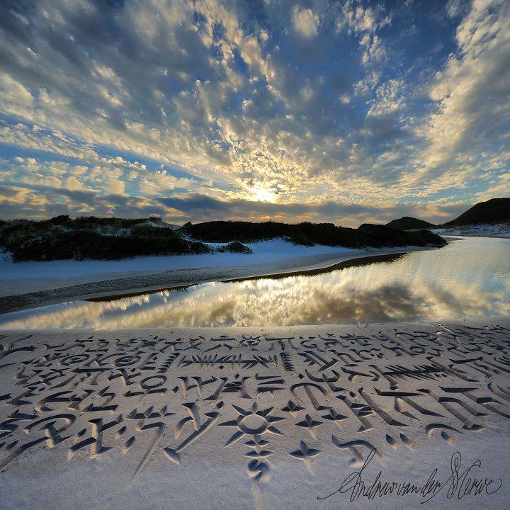 African Beach Calligraphy by Andrew van der Merwe | the dancing rest