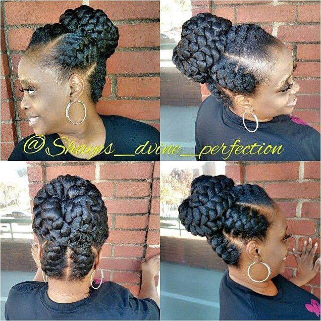 Goddess Braids Bun Boxbraids Click For More Info Goddess Braids Ghana Goddess Braid Bun Goddess Braids Hairstyles Goddess Braids Updo
