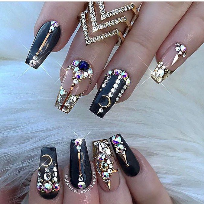 111 best nail ideas images on pinterest nail design nail glamourchicbeauty no words these are insanely beautiful using our gold nail art embellishments prinsesfo Choice Image