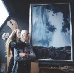 Mathilde en Carel Willink in atelier 1972