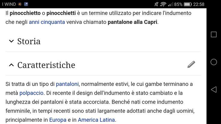 Pantaloni alla Capri, pinocchietti.