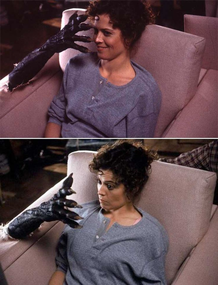 Sigourney Weaver behind the scenes in #Ghostbusters (1984).