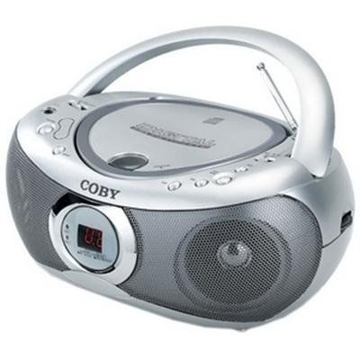 "Coby CX-CD236 Portable Cd Player with Am/fm Stereo Tuner by Coby. $29.20. Coby, Top Loading CD Player, Programmable Track Memory, AM/FM Radio, Telescopic FM Antenna, High Output Stereo Speakers, Requires Eight ""C"" Batteries, Not Included, 110/220V Dual Voltage, 3.5mm Headphone Jack."