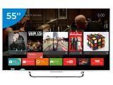 "Smart TV LED 4K Ultra HD 3D 55"" Sony XBR-55X855C - Conversor Integrado 4 HDMI 3 USB Wi-Fi Android TV"