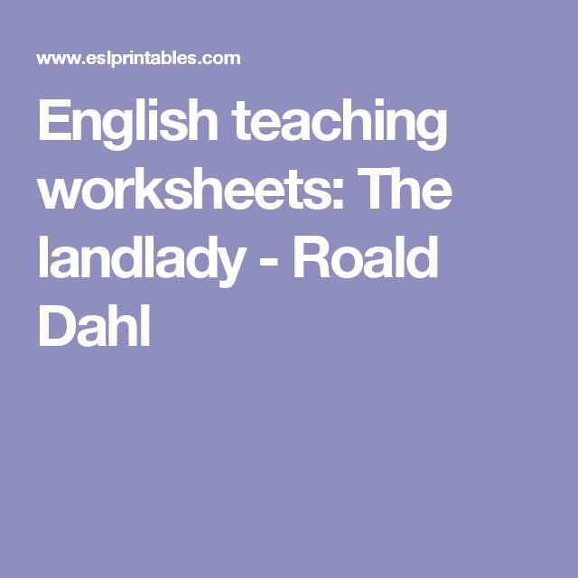 best landlady images short stories roald dahl  english teaching worksheets the landlady roald dahl
