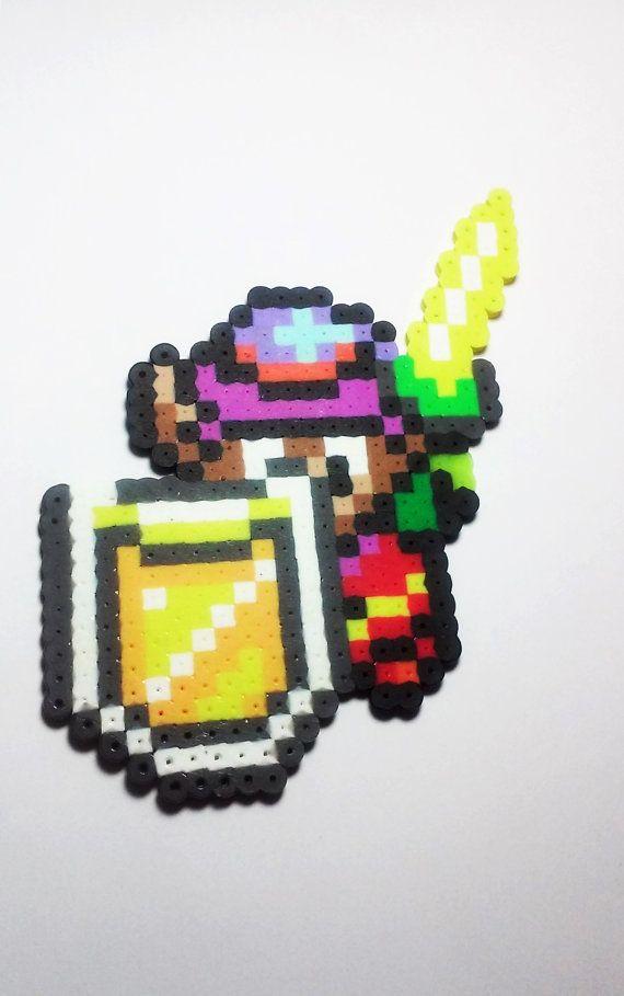 Die Legende von Zelda Link Perler Perlen Sprite - einen Link zu den letzten Sprite - retro-Videospiel - Spieler Geschenk - Zelda - super Nintendo - Videospiel