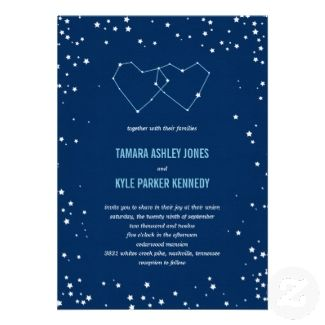 Could do star of david instead of hearts.  Under The Stars Wedding Invitations (Blue) invitation
