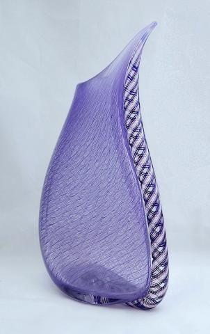 Contemporary Mike Hunter for Twists glass Merletto & Zanfirico vase