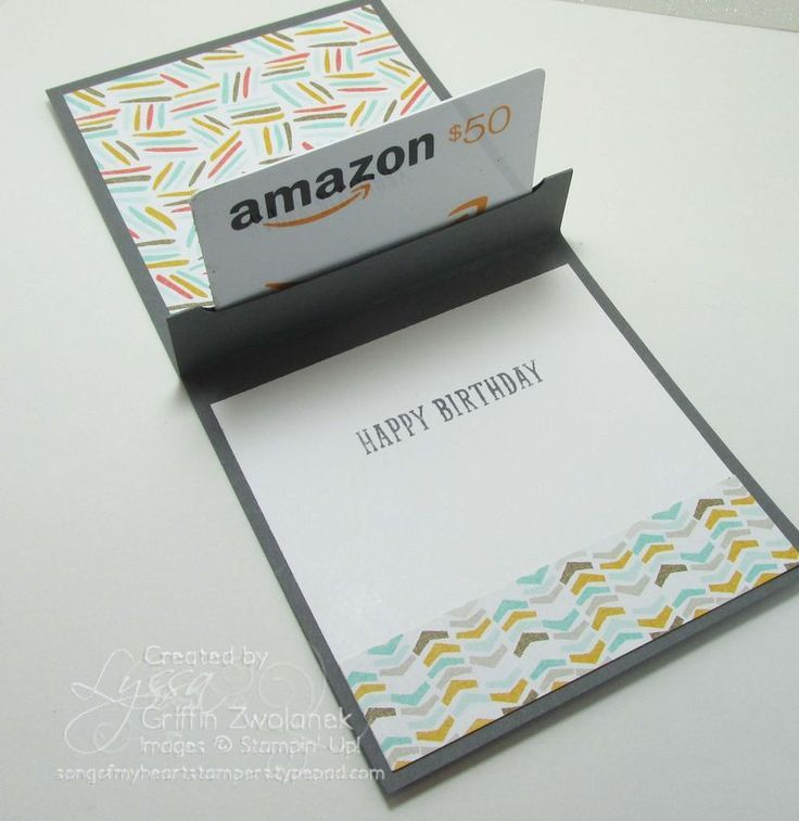 Pop-Up Gift Card Holder: YouTube Video Tutorial By Song of My Heart
