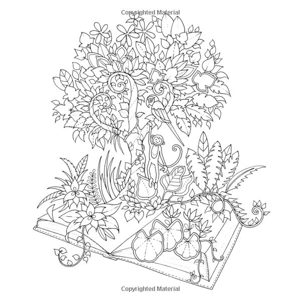 366 best Coloring Book Magical Jungle images on Pinterest