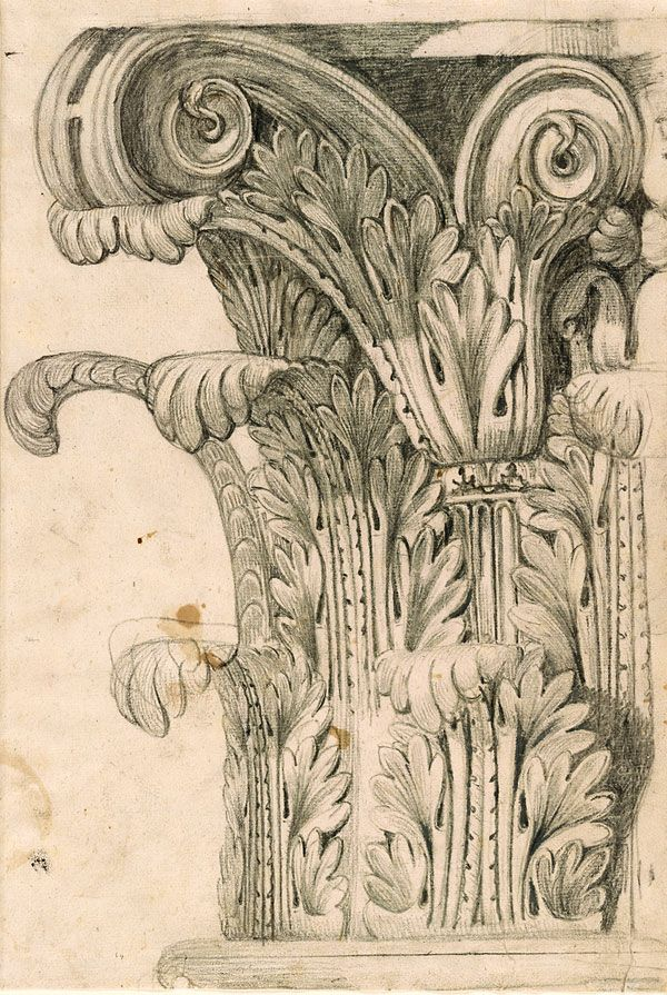 Giovanni Battista Piranesi   1720-1778   Design for a Corinthian Capital   The Morgan Library & Museum