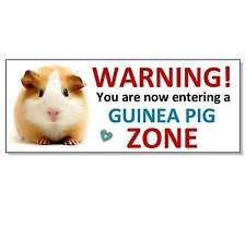FUNNY WARNING GUINEA PIG ACRYLIC SIGN Plaque hutch cage run door garden gift