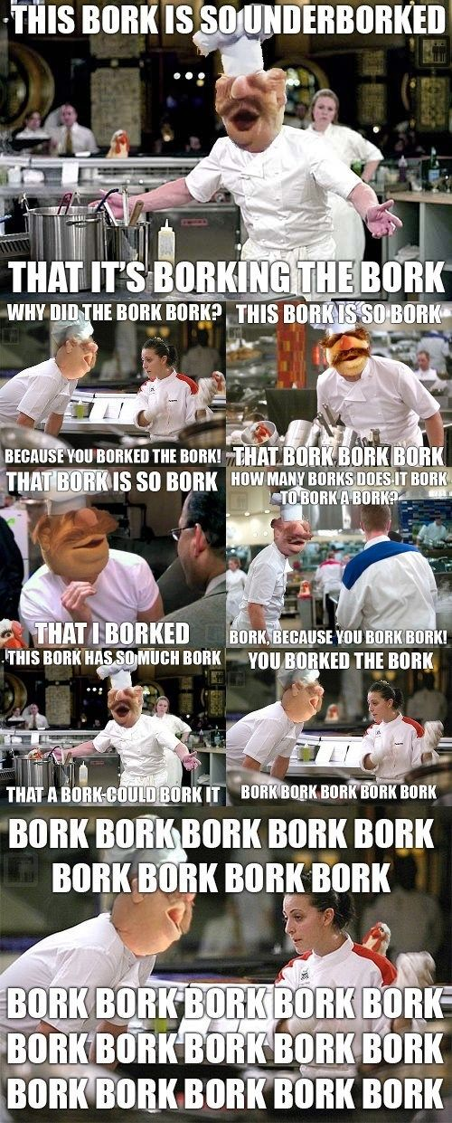 BORK Swedish Chef - Hell's Kitchen // I feel like I was playing a game of 'find the chickens'. At which I succeeded.
