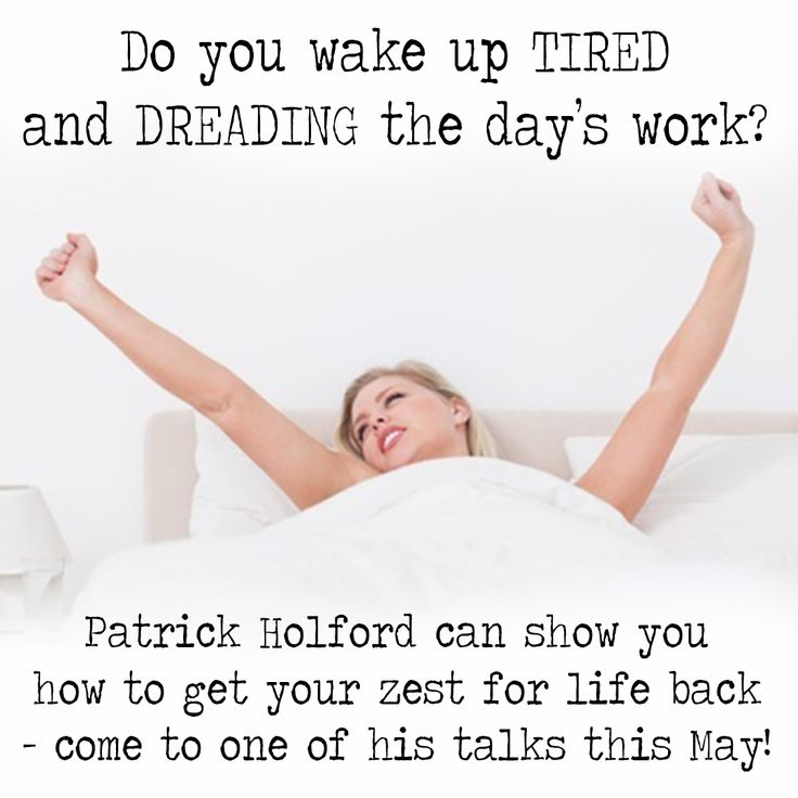 Always tired? Wake up everyday feeling drained and dreading the day? Come to Patrick's seminar to find out how you can transform yourself into someone that has boundless energy all the time. #energy #weightloss #tiredness
