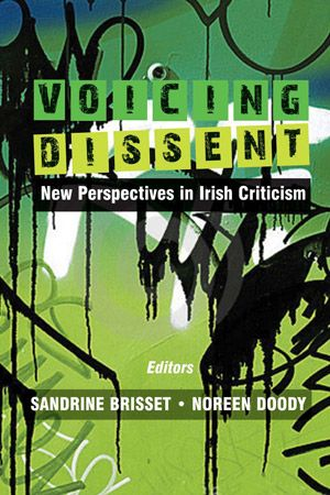 Voicing Dissent is a collection of critical essays exploring the idea of dissent in contemporary Irish Studies. Prominent in these essays are radical points of view, alternative readings, contentious texts, and some unusual and innovative approaches to canonical works.