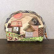 """Handtassen en accessoires.  Fair of Masters - handgemaakte schoonheidsspecialist """"Warm Spring"""" Japans patchwork.  Met de hand gemaakt."""