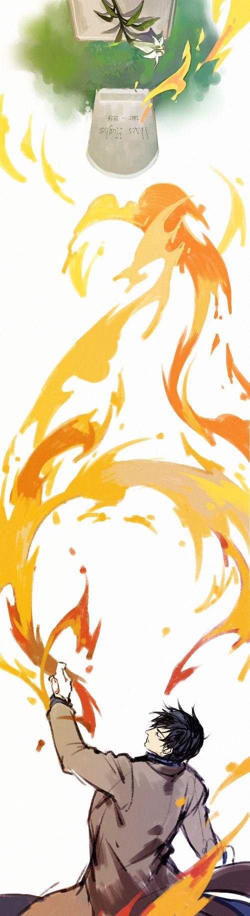 Flame Alchemist by     http://www.pixiv.net/member_illust.php?mode=medium&illust_id=40256849