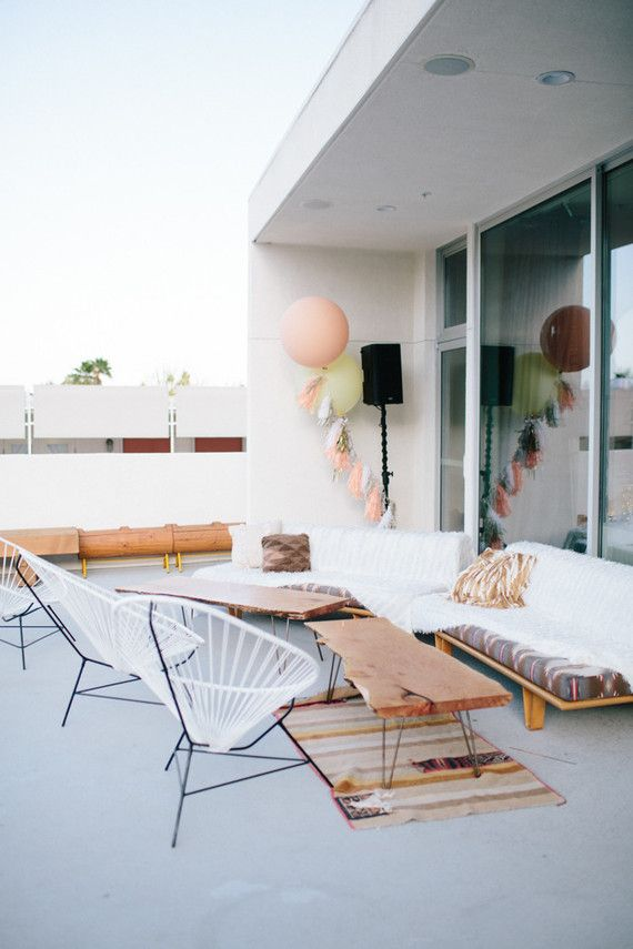 Mid Century - Outdoor Lounge - Bohemian Chic - Interior Decor - Relaxed Aesthetic