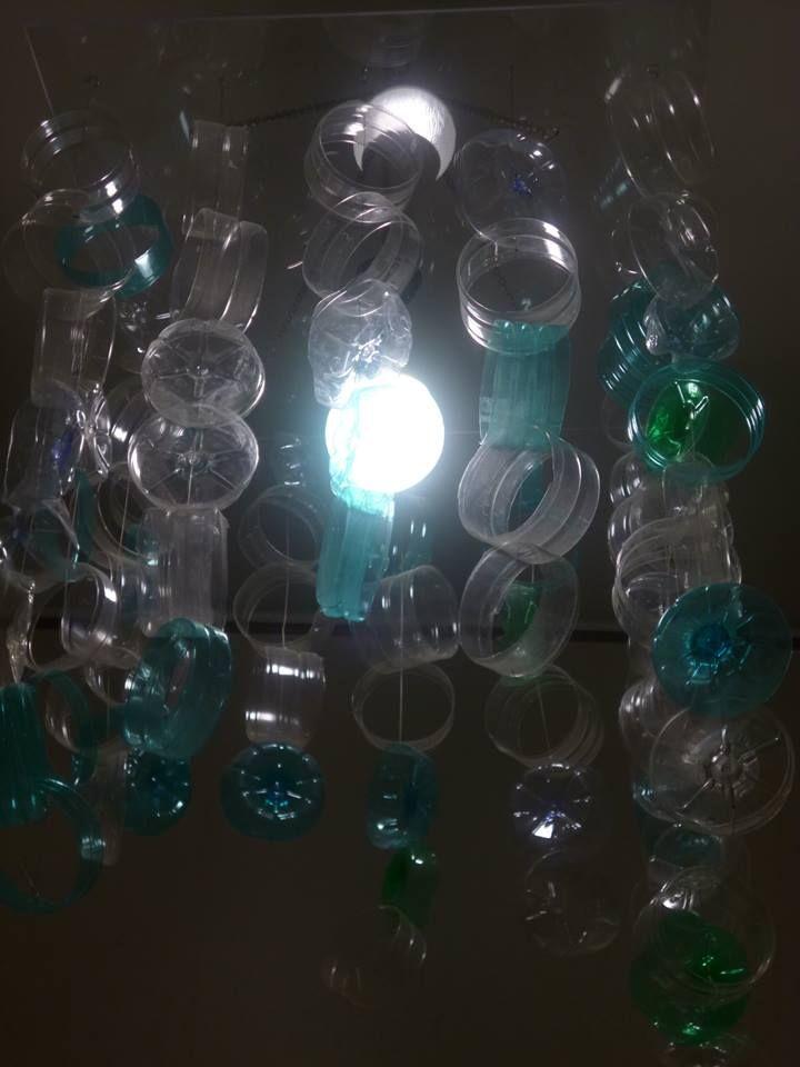 #lampadario #plastica #riciclo #bottiglie