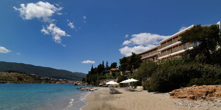 Golden View Beach Hotel at Poros Island. Our beach . More info at www.goldenview.gr