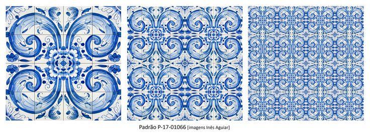 Padrão / Pattern P-17- 01066 #Azulejo #AzulejoDoMês #AzulejoOfTheMonth #Flores #Flowers #Padrão #Pattern