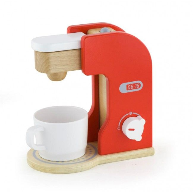 Start your day like Mum & Dad, with a freshly brewed cup of coffee! This lovely wooden coffee maker is gender neutral, and a great tool for role play, which develops communication and social skills! And... it won't break the bank! #woodentoys #entropytoys #coffee #coffeemachine