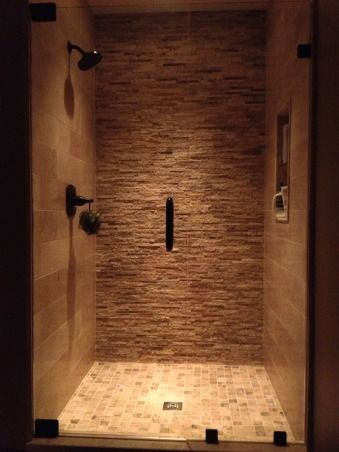 Website With Photo Gallery Stacked stone shower